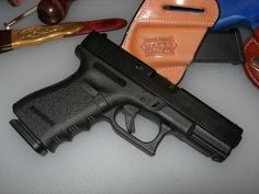 Glock 19  One of the most popular and versatile handguns in our inventory, the Glock 19 is used by virtually everyone. While it was first produced in 1988 for the military and law enforcement communities; police forces, SWAT teams, government operatives, criminals, and civilians alike have all armed themselves with this reliable and accurate weapon. The Glock 19 is essentially a reduced-size Glock 17. As such, many of the parts of the Glock 19 are interchangeable with the Glock 17. The Glock...