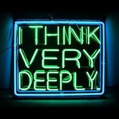 "about: patrick martinez — ""you're deep"" neon 2013 #art #patrickmartinez..."