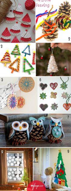 Hacer disfraces con cajas de cart n 10 ideas sencillas y - Manualidades de navidad para ninos pequenos ...
