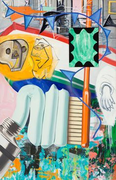 Review: David Salle Paintings Deliver Colliding Culture at Skarstedt Gallery - The New York Times