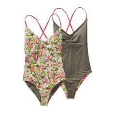 Patagonia Women\'s One-Piece Kupala Swimsuit - Neo Tropics Petite: Shock Pink NSHP