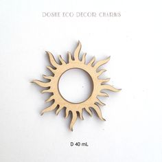 Beautiful laser cut Sun wood shape for your Sunny ideas / Laser cut wood shapes / Sun charms / Sun decor / Wood embellishments / Wood sun by DosheEcoDecorCharms on Etsy
