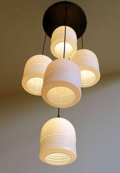 años 70 Vintage luz blanco cristal de Murano por ARTINLIFEITALY