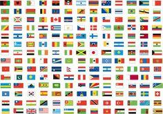 Drapeaux et noms a decouper et coller sur des pics theme - Pays qui commence par b ...