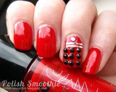 Ja, das muss ich versuchen – Polnischer Smoothie: Doctor Who Nail Art: Red Daleks - Fashion Details. Gradient Nails, Stiletto Nails, Pink Nails, French Nail Designs, Winter Nail Designs, Cool Nail Designs, Art Designs, Design Art, Trendy Nail Art