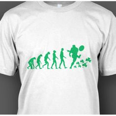 Irish Rugby Evolution T-Shirt Irish Rugby, Evolution T Shirt, Quality T Shirts, Ireland, Cool Designs, Tees, Mens Tops, T Shirts, Irish