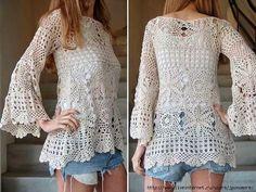 Resultado de imagem para blusas femininas de croche com graficos