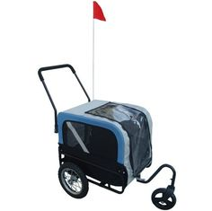 vidaXL Blue Dog Bike Trailer with Jogger ** You can get more details by clicking on the image. (This is an Amazon affiliate link)