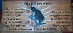 Wood Carved Sign - Bull Riders Prayer - 1'x2' Light Walnut Finish $30 plus shipping.