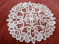 Vintage Tape Lace doily BATTENBURG LACE
