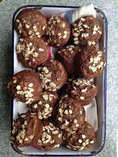 Banana Chocolate Muffins-Gluten Free Vegan