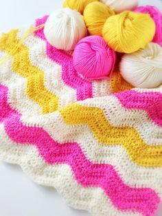 Baby blanket - crochet wave blanket - showroom blog