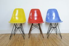 DRS Eames vintage  Canary Yellow + Red + Medium Blue