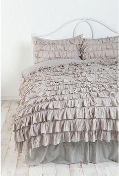 Bed Room grey ruffles
