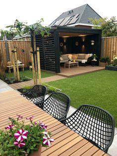 Back Garden Design, Small Backyard Design, Backyard Seating, Backyard Patio Designs, Small Backyard Landscaping, Backyard Ideas, Patio Ideas, Seating Area In Garden, House Garden Design