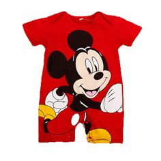 994605d16 2017 Summer Style Baby Rompers Baby Girls Clothes Cotton Cute Mickey Minnie Romper  Newborn Jumpsuits Ropa Bebes Baby Boy Clothes-in Rompers from Mother ...
