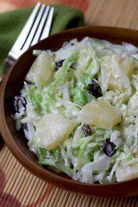 Cabbage and Pineapple Salad - AntojandoAndo pasta rezept healthy pasta recipes Mexican Shrimp Recipes, Veggie Recipes, Salad Recipes, Beef Recipes, Vegetarian Recipes, Cooking Recipes, Healthy Recipes, Salade Healthy, Deli Food