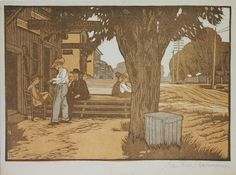 Clinching the Argument by Gustave Baumann
