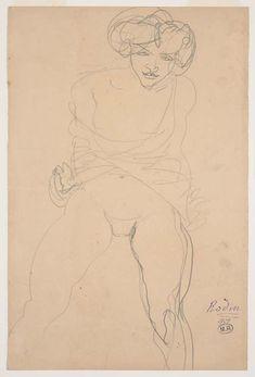 Auguste Rodin, Femme assise de face, le vêtement relevé sur les jambes écartées, dite Psyché