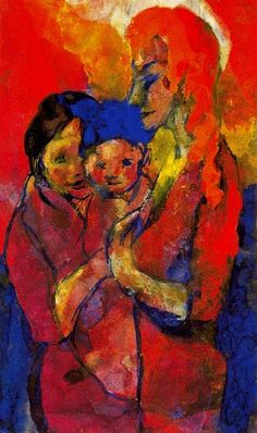 Emil Nolde - Mother and Two Children (German: Emil Nolde, Ernst Ludwig Kirchner, Degenerate Art, Oil Canvas, Expressionist Artists, Edvard Munch, Art Moderne, Art Abstrait, Wassily Kandinsky