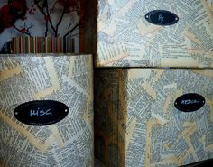great storage box idea... and oh, so, cheap!