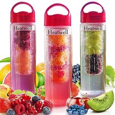 Infuser Water Bottle – Create Your Own Delicious Fruit Infused Water, Sparkling Beverages, Lemonade,… Fruit Infused Water, Infused Water Bottle, Coffee Tumbler, Coffee Cups, Fruit Infuser Bottle, Delicious Fruit, Outdoor Recreation, Iced Tea, Tea Mugs