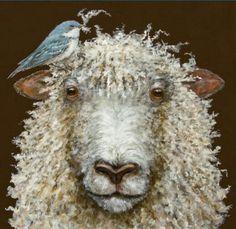 Sheep art Sheep Paintings, Paintings I Love, Animal Paintings, Illustrations, Illustration Art, Wooly Bully, Photo Animaliere, Sheep Art, Sheep And Lamb