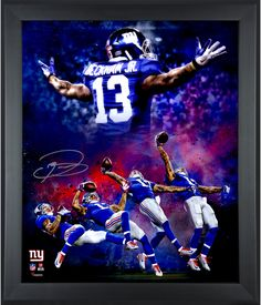 Odell Beckham, Jr. New York Giants Framed Autographed 20'' x 24'' In Focus Photograph