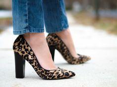 Pony Fur Leopard Heels