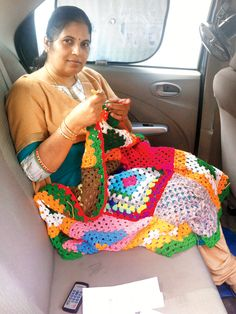 A group of women in India are working to beat the world record for the largest crochet blanket by a group.