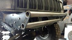 """The easy way to build your own sturdy recovery bumper for your XJ! Each round hole accepts a 1.75"""" tube. Make it stubby, or make it a full width. Each bracket"""