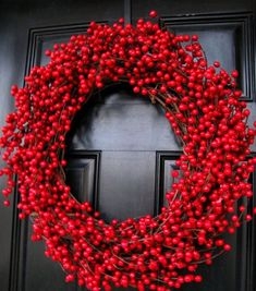 Decadent Extra-Large Cranberry Wreath by The Wright Wreath - contemporary - outdoor decor - Etsy Noel Christmas, All Things Christmas, White Christmas, Christmas Wreaths, Christmas Crafts, Christmas Decorations, Holiday Decor, Xmas, Homemade Christmas