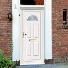 External Pvc Carron One Alva Door. #frontpvcdoor #externalwhitedoor #whitepvcdoor & External UPVC Dundee Half Panel - Crystalline Glass Door | Dundee ...