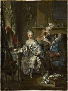 Francois Eisen. La toilette intime, secolo XVIII