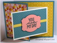 Joy Fold Card - includes measurements for all elements!!