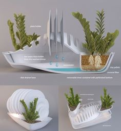 Drainboard with a flowerpot by Design Libero