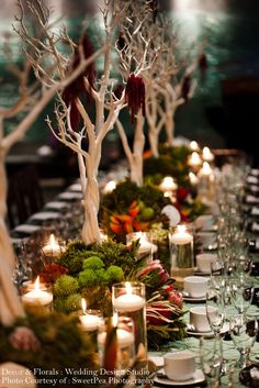 Beautiful Table Decorations by {The Wedding Design Studio} #Tablescapes #Fall: