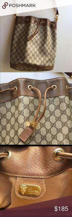 Gucci Women's Purse Vintage Bucket Bag Gucci vintage bucket purse in excellent used condition Gucci Bags Shoulder Bags