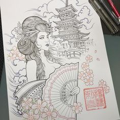 design your tattoos Japanese Tattoo Art, Japanese Tattoo Designs, Tattoo Motive, Arm Tattoo, Sleeve Tattoos, Thigh Piece Tattoos, Pieces Tattoo, Geisha Tattoos, Japanese Tattoos