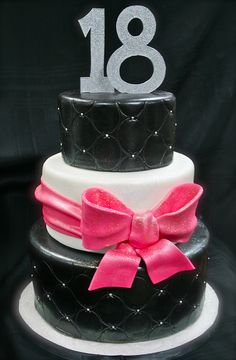 Girly 18th Birthday cake | Flickr: Intercambio de fotos