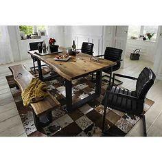Premium Collection By Home Affaire Esstisch Queens Akazie Natur Breite 180 Cm