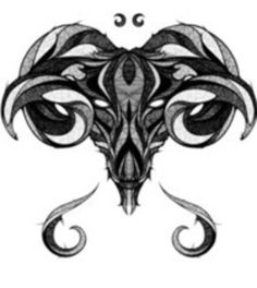 Signs of the Zodiac - Aries Art Print by Andreas Preis - X-Small Arte Aries, Aries Art, Aries Sign, Zodiac Signs Aries, Zodiac Art, Pisces, Ram Tattoo, Tatoo Art, Head Tattoos