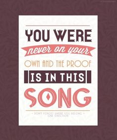 One Direction - Don't Forget Where You Belong (Midnight Memories) 1d Songs, Love Songs Lyrics, Lyric Quotes, Music Lyrics, Me Quotes, Lyric Art, My Love Song, I Love Music, Music Is Life