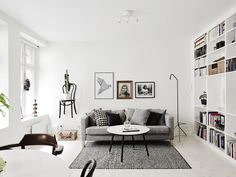 Two floor apartment with a chair as a shelf