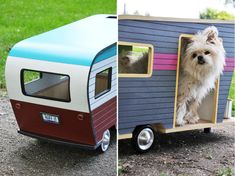 The Pet Trailer Series includes four dog-sized trailers made from environmentally-friendly materials, including recyclable aluminum, plywood and plastic. Animal Design, Dog Design, Dog Mansion, Animals And Pets, Cute Animals, Pet Trailer, Dachshund Puppies For Sale, Dachshunds, Cool Dog Houses