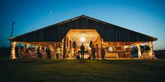 Barn Wedding at night at the Wishing Well Barn, Plant City, Florida, Rustic / Vintage Barn