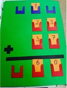 -March -Math addition -This activity gives children the ability to be hands on with the concept of addition or even subtraction Math For Kids, Fun Math, Math Games, Math Activities, Math Math, Math Classroom, Kindergarten Math, Teaching Math, Math Boards