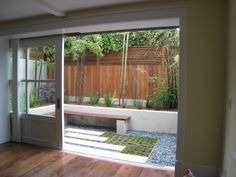 small courtyard