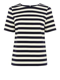 Nautical stripe short sleeve top