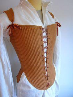 Elizabethan corset by redthreaded on Etsy
